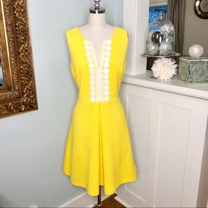 Vince Camuto Yellow Lilly Style Fit & Flare Dress